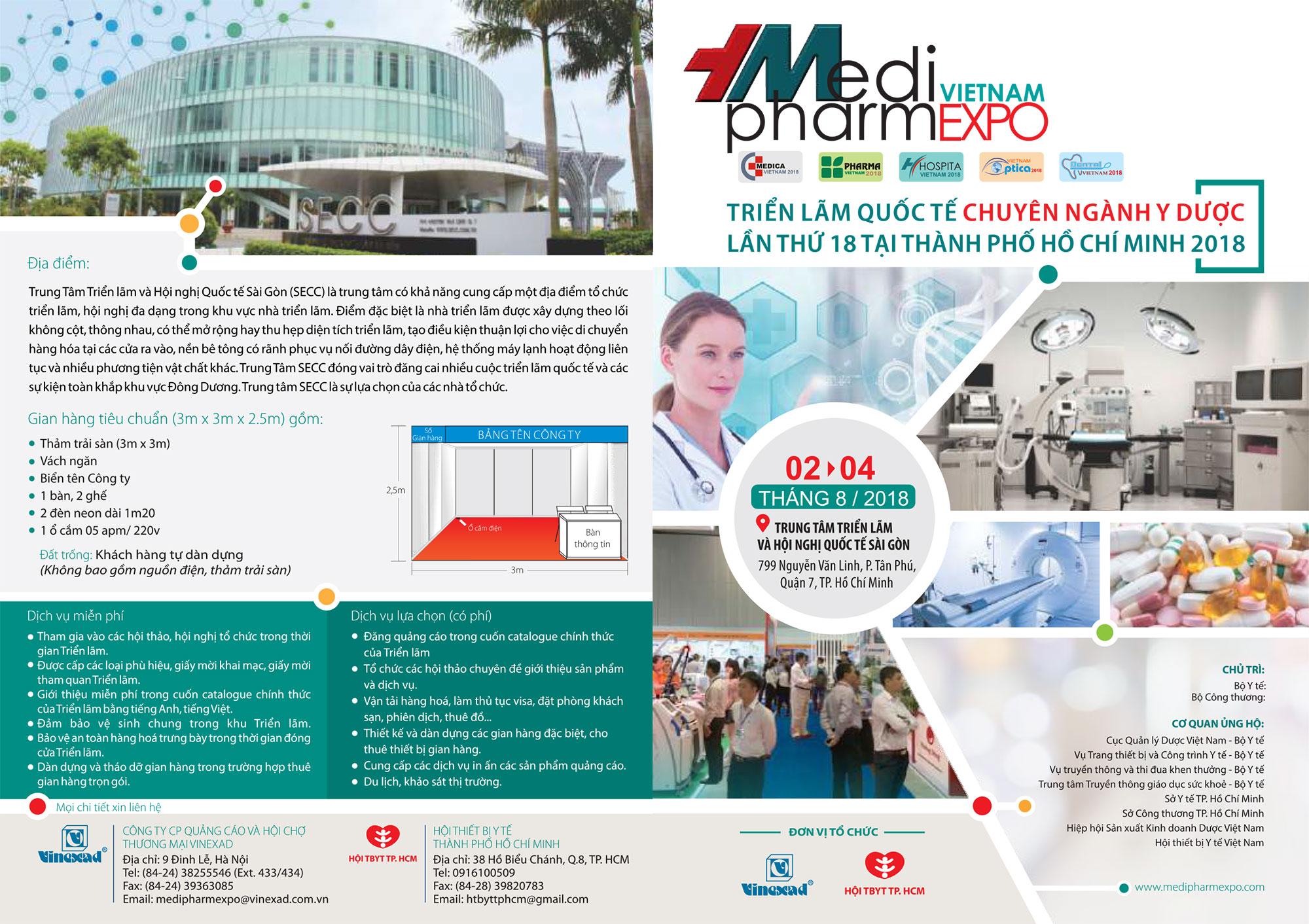 MPT THAM GIA TRIỂN LÃM VIETNAM MEDI-PHARM EXPO 2018