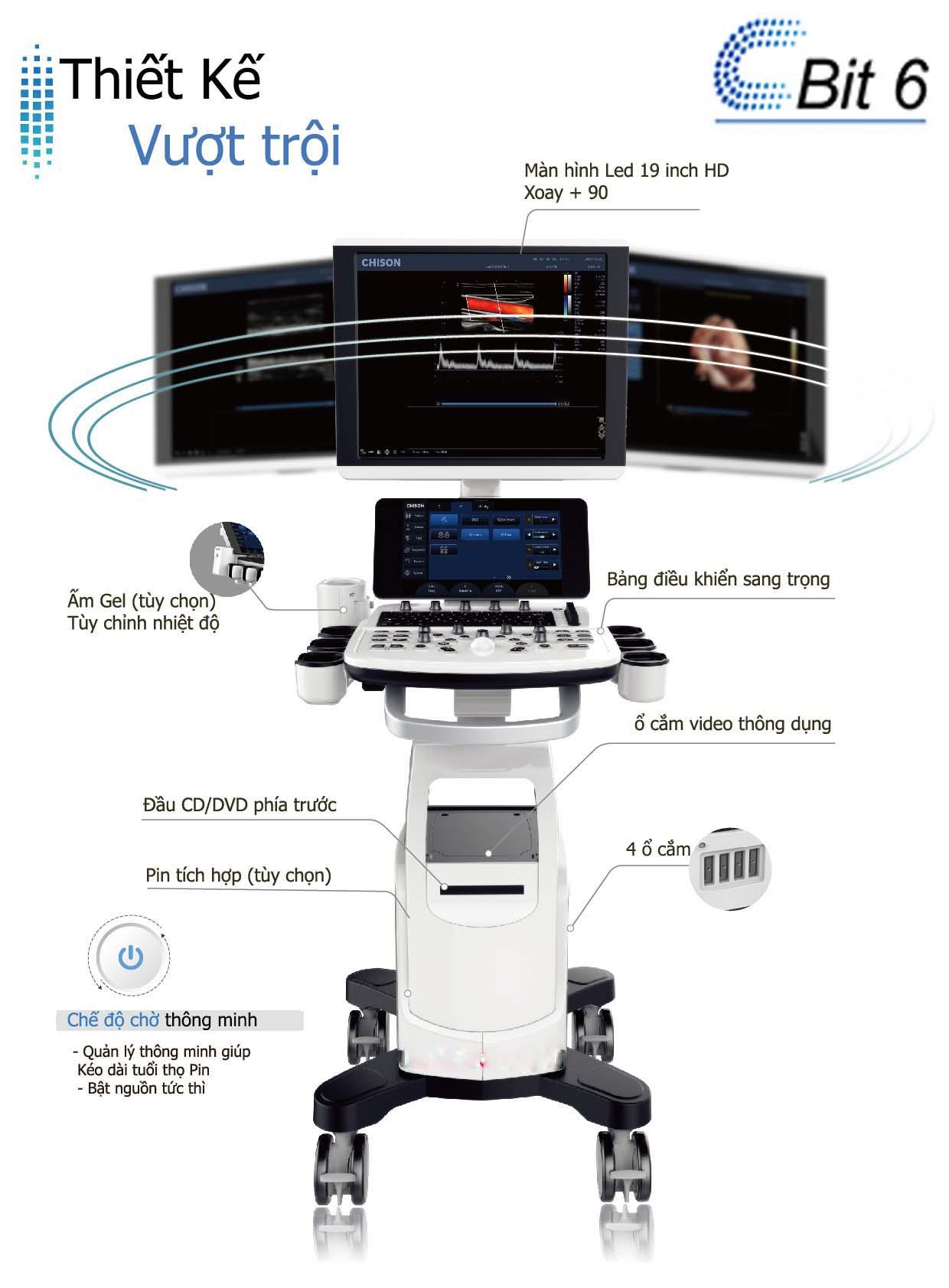 Máy Siêu Âm 5D HD live -Cbit 6
